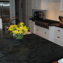 Green Soapstone Kitchen Countertops and Island