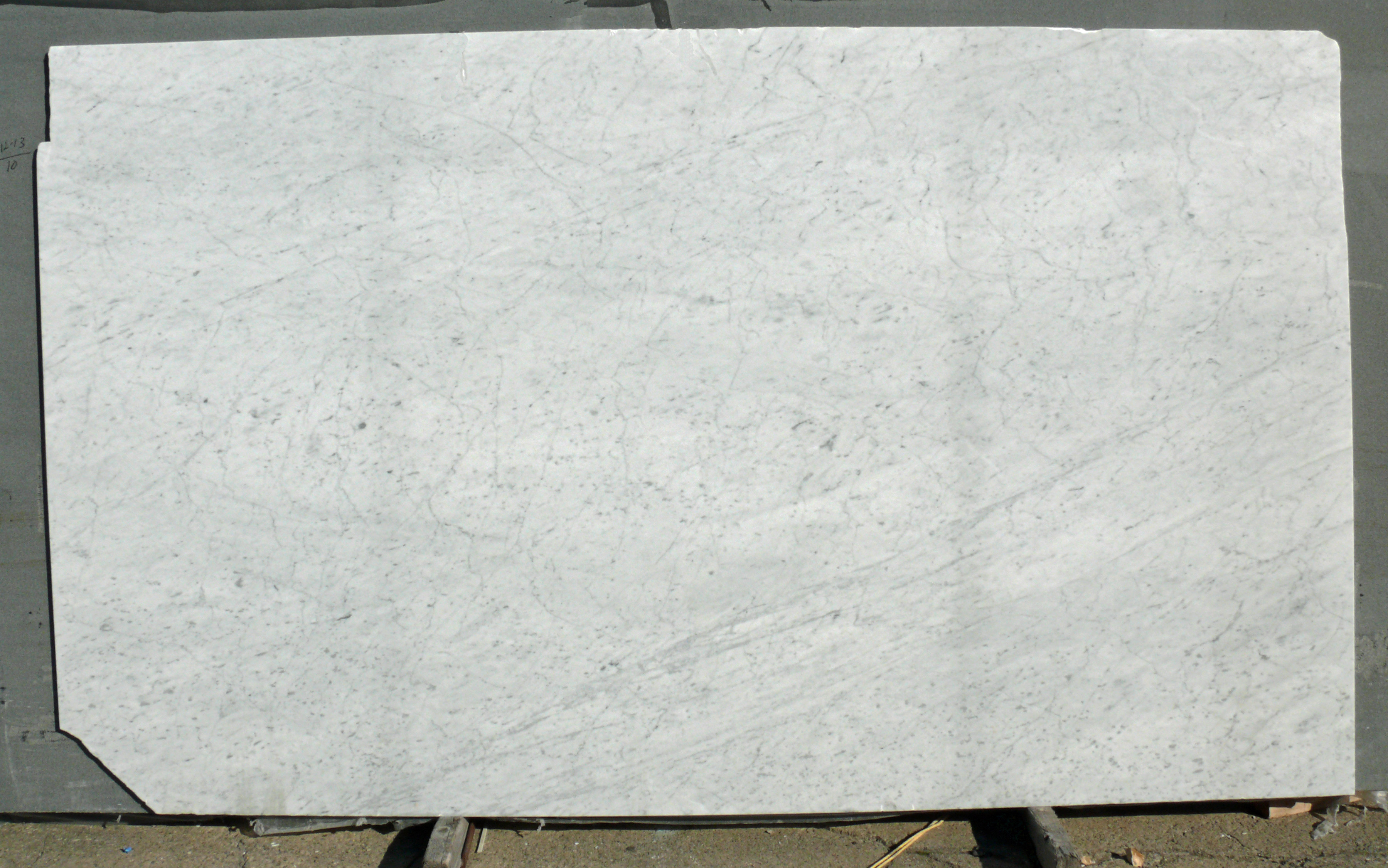 White Carrara Marble Slab Honed Italy